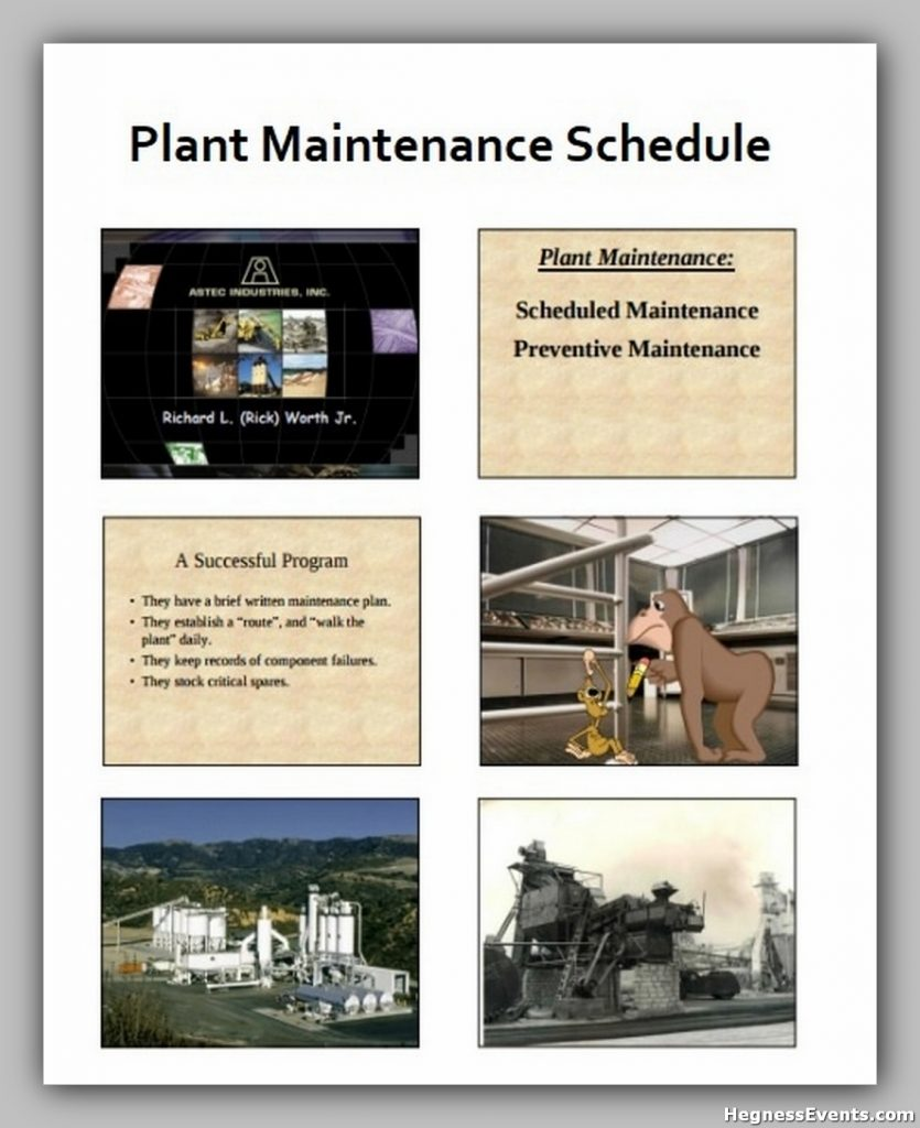 Plant Maintenance Schedule Template