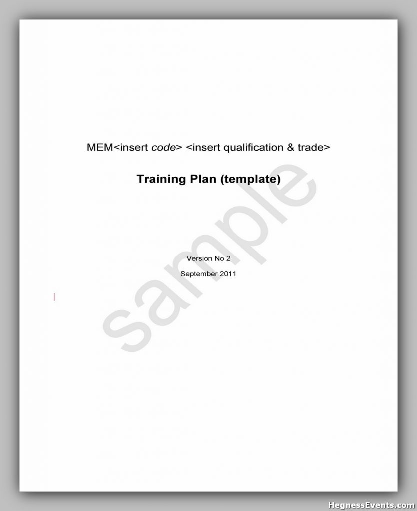 Training Manual Template Free 26