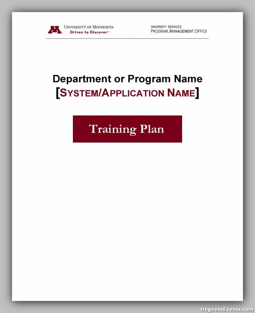 Training Manual Template Free 27