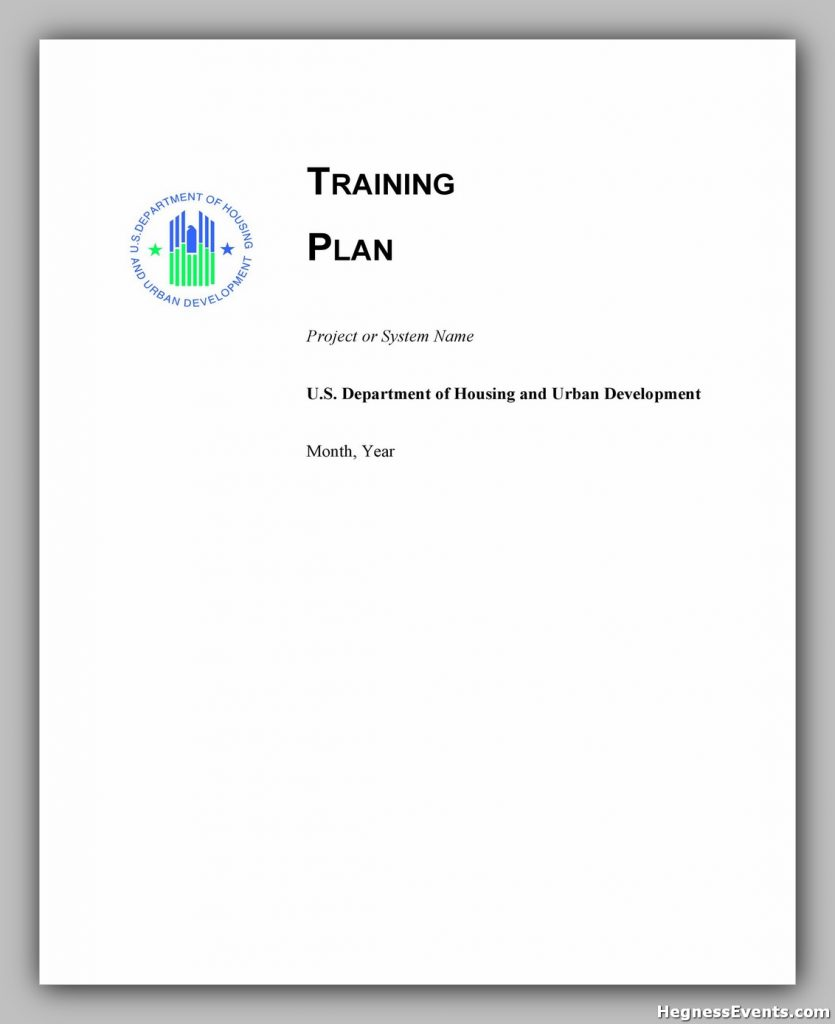 Training Manual Template Free 29