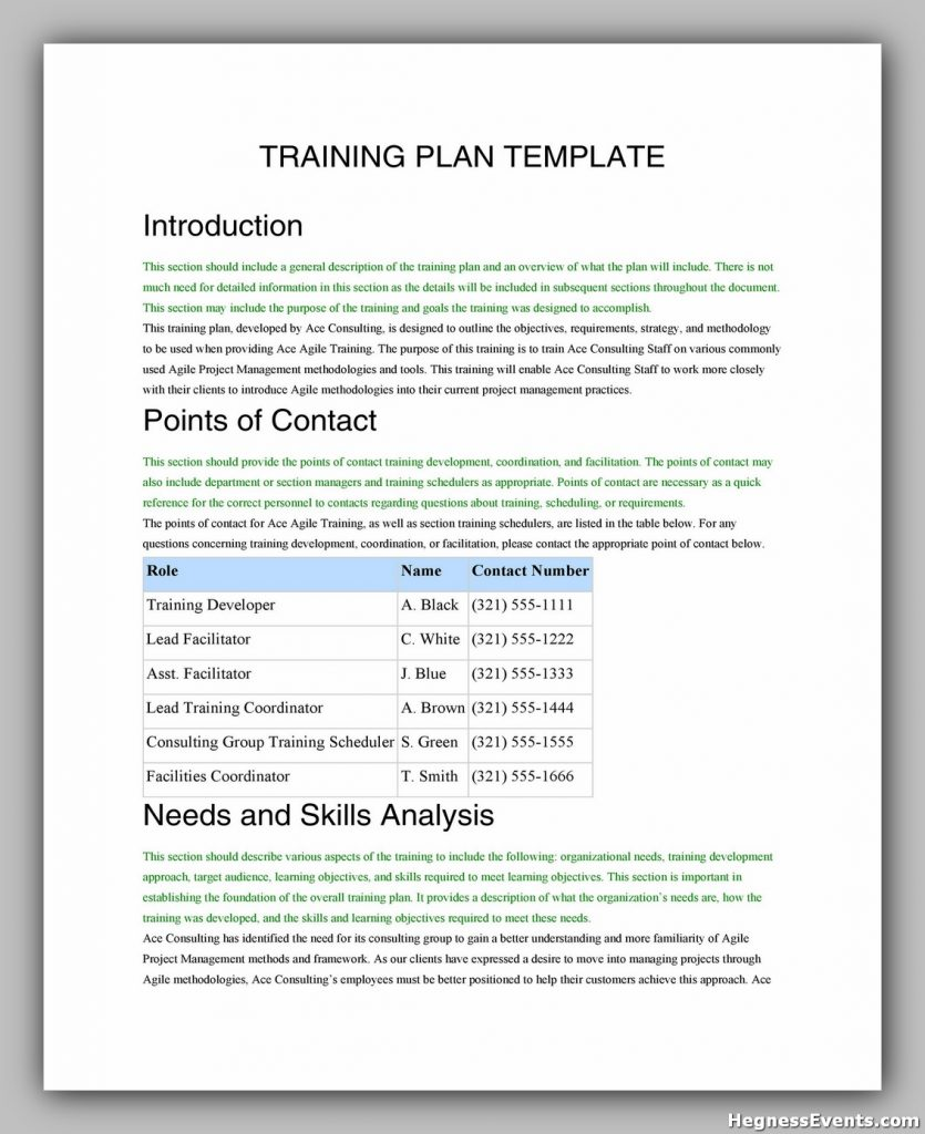 Training Manual Template Free 32