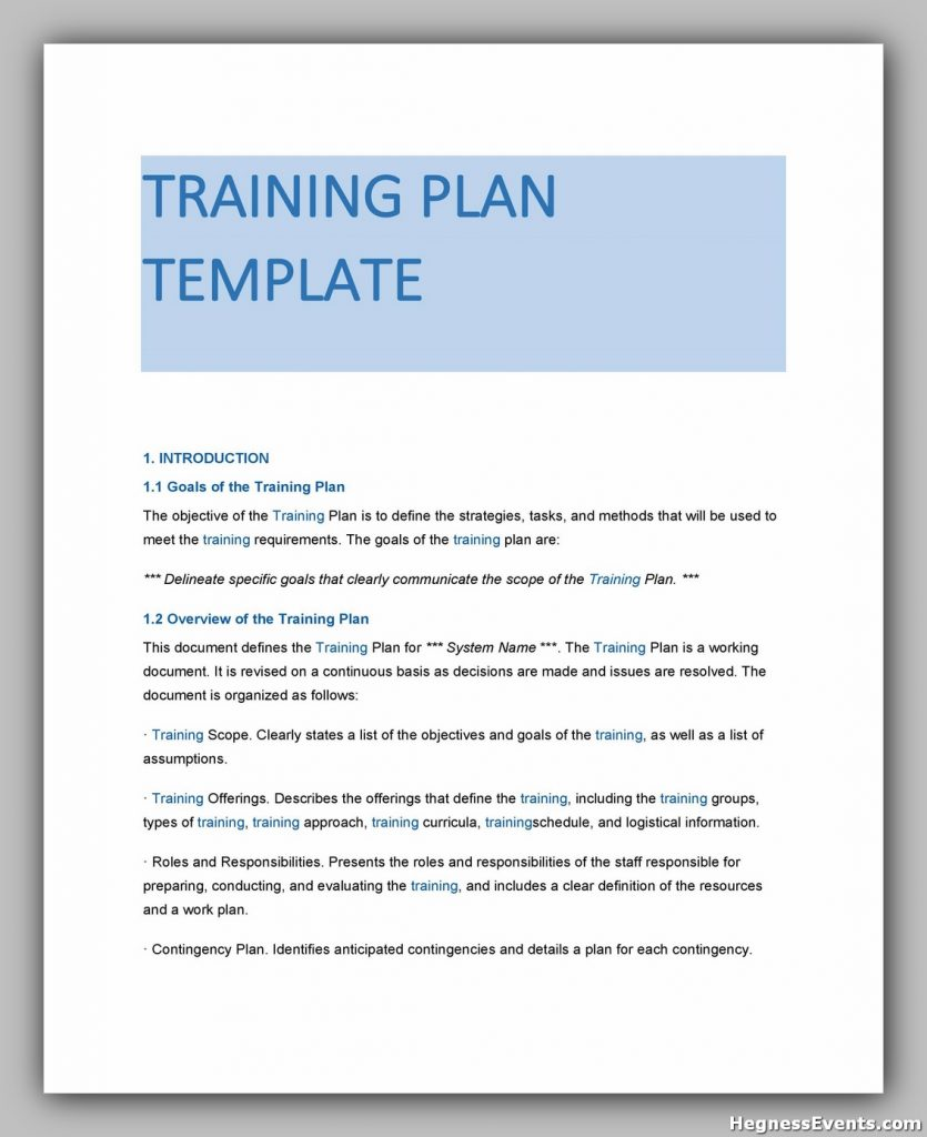 Training Manual Template Free 33