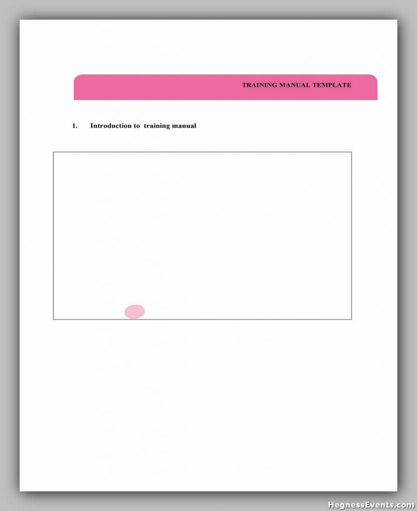 Training Manual Template Word 14
