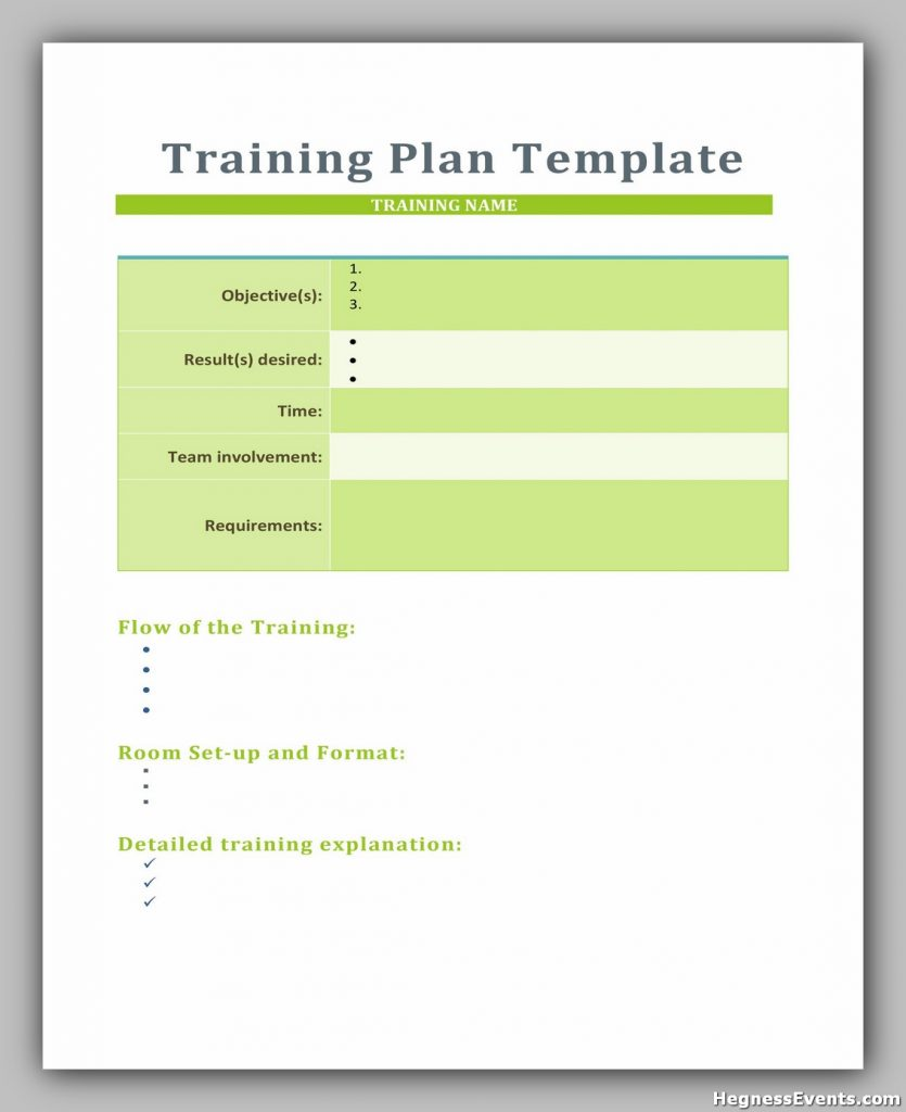 Training Manual Template Word 15