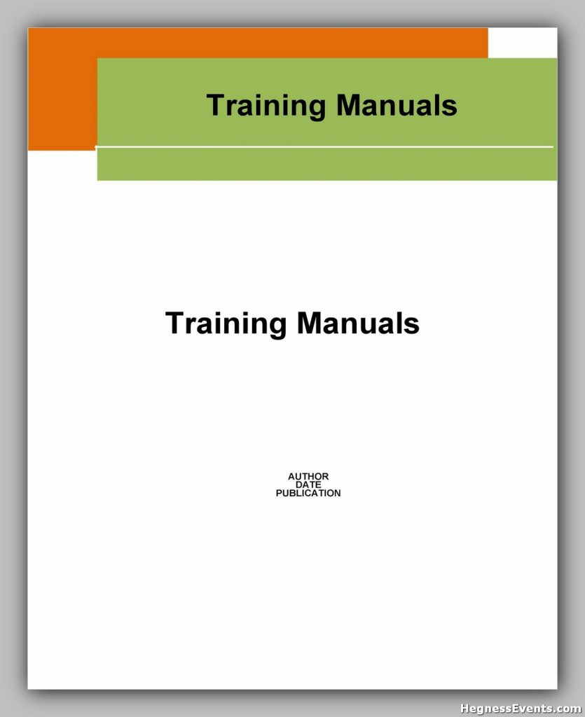 Training Manual Template Word 16