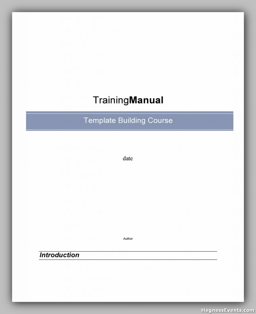 Training Manual Template Word 18