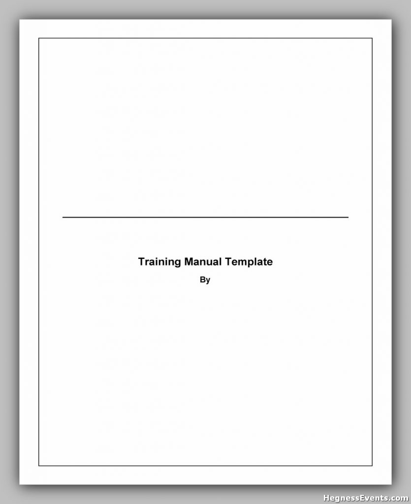 Training Manual Template Word 19