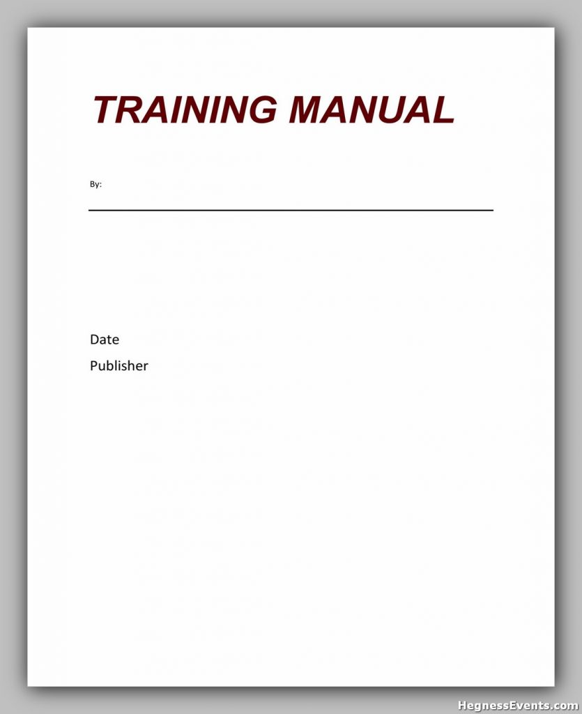 Training Manual Template Word 21