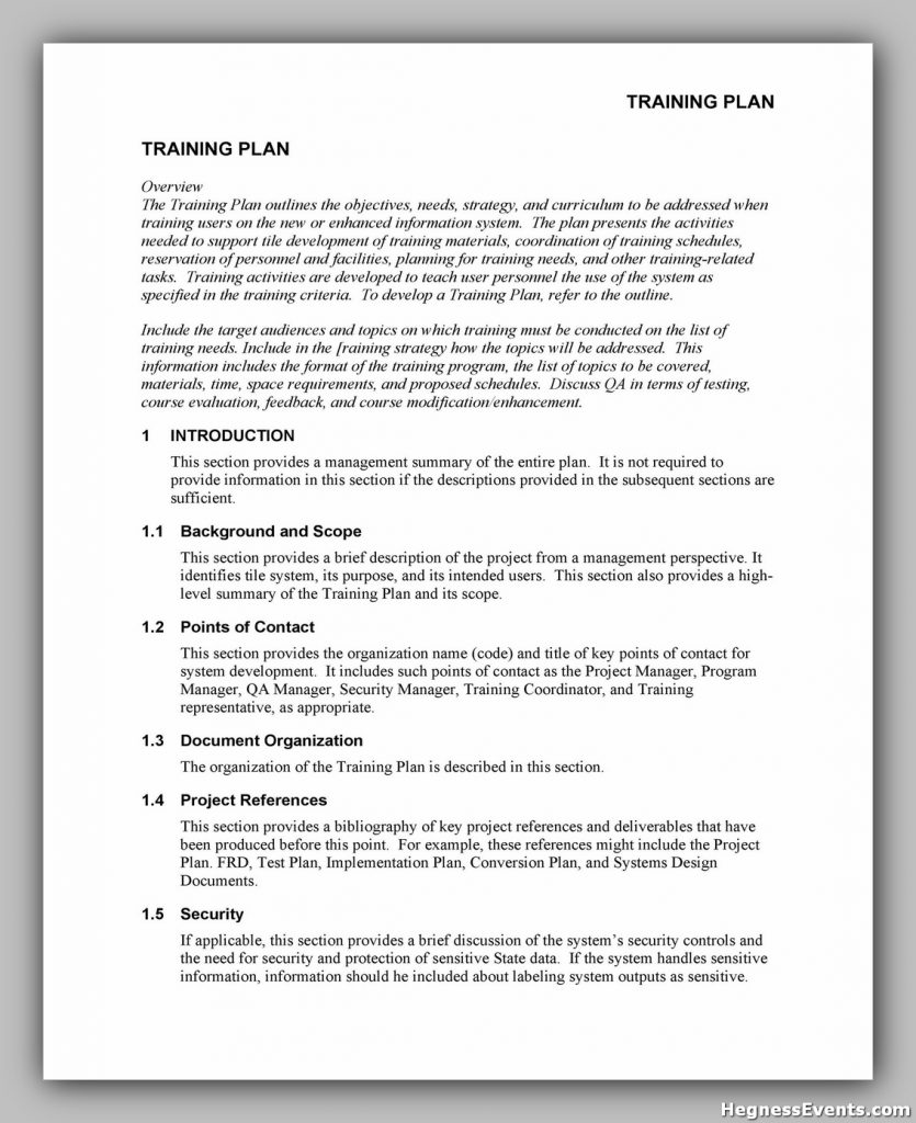 Training Manual Template Word 24