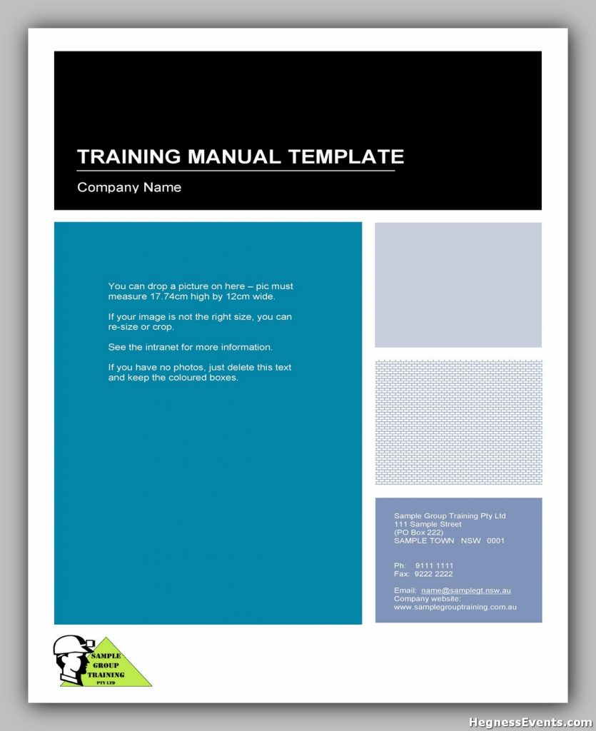 training manual template 01