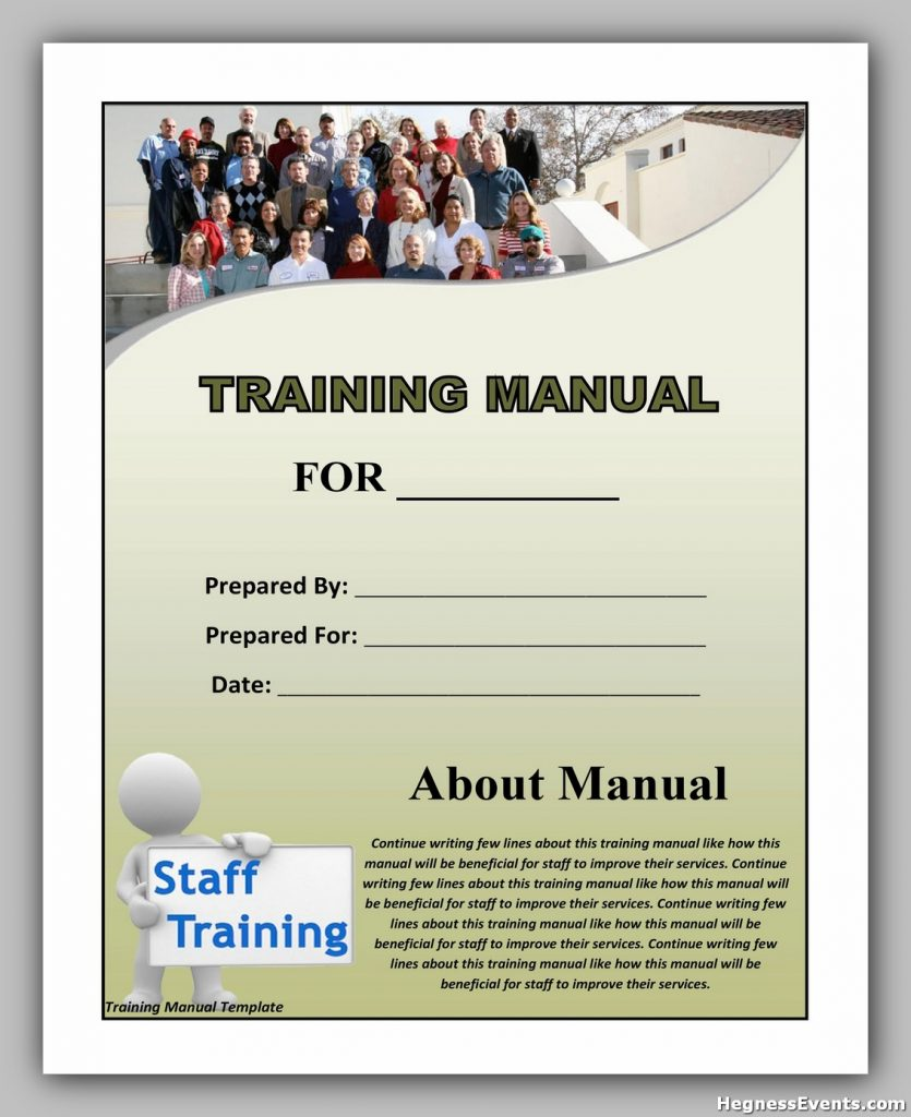training manual template 08