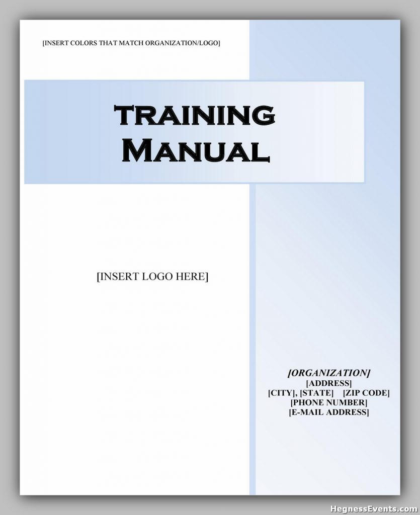training manual template 09