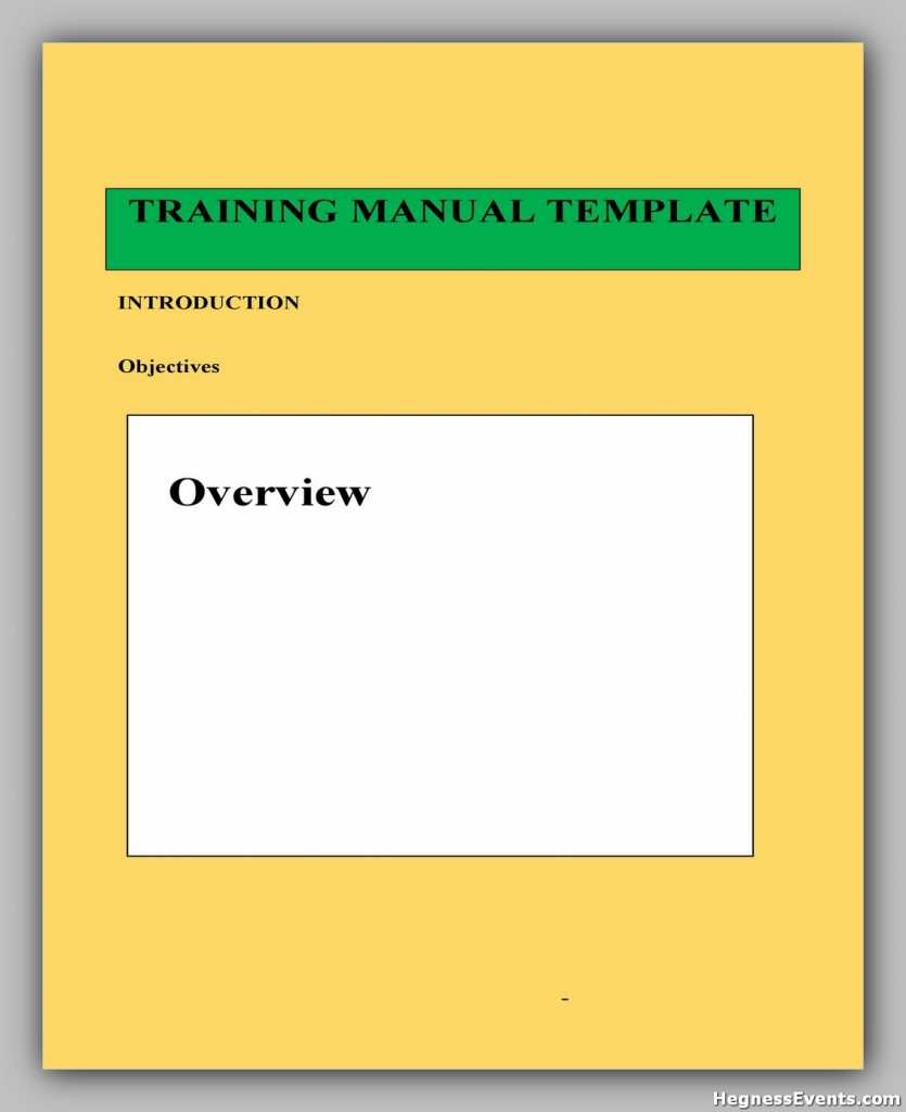training manual template 10