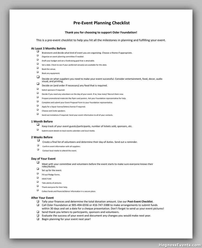Event Planning Template 11