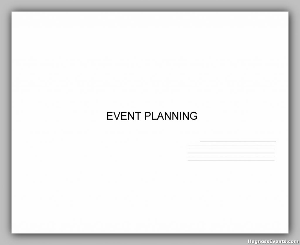 Event Planning Template 31