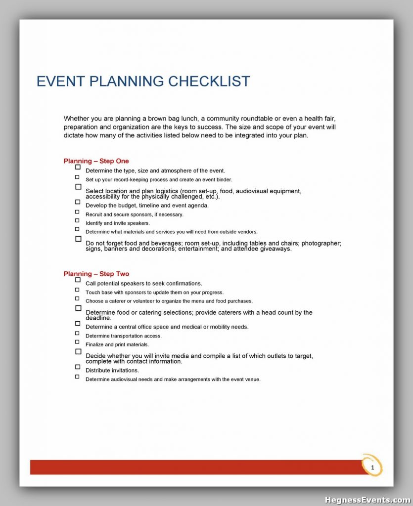 Event Planning Template Free 41