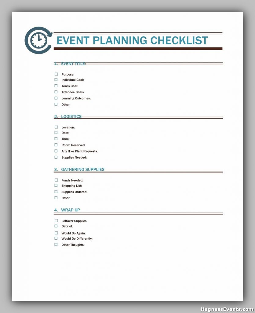 Event Planning Template Free 44