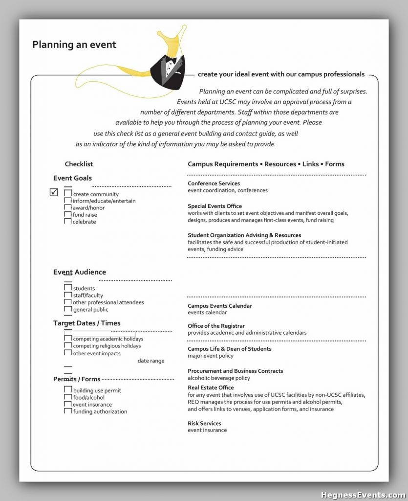Event Planning Template Free 46