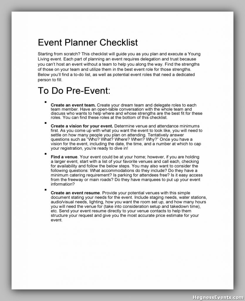 Event Planning Template Free 47