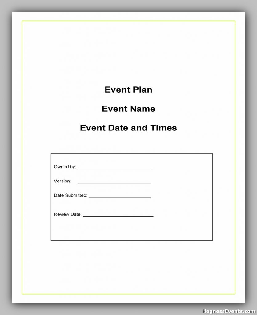 Event Planning Template Free 49