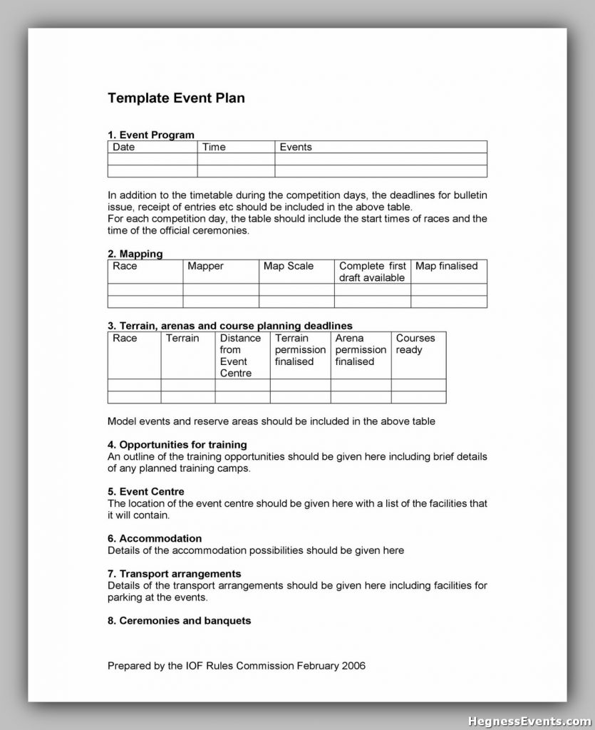 Event Planning Template Free 50