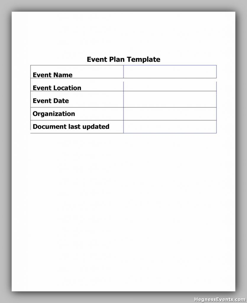 Event Planning Template Pdf 28