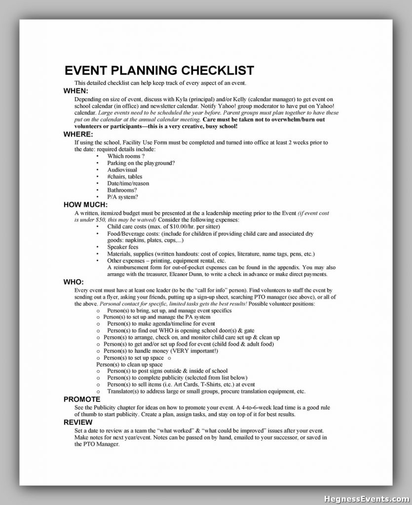 Event Planning Template Word 13