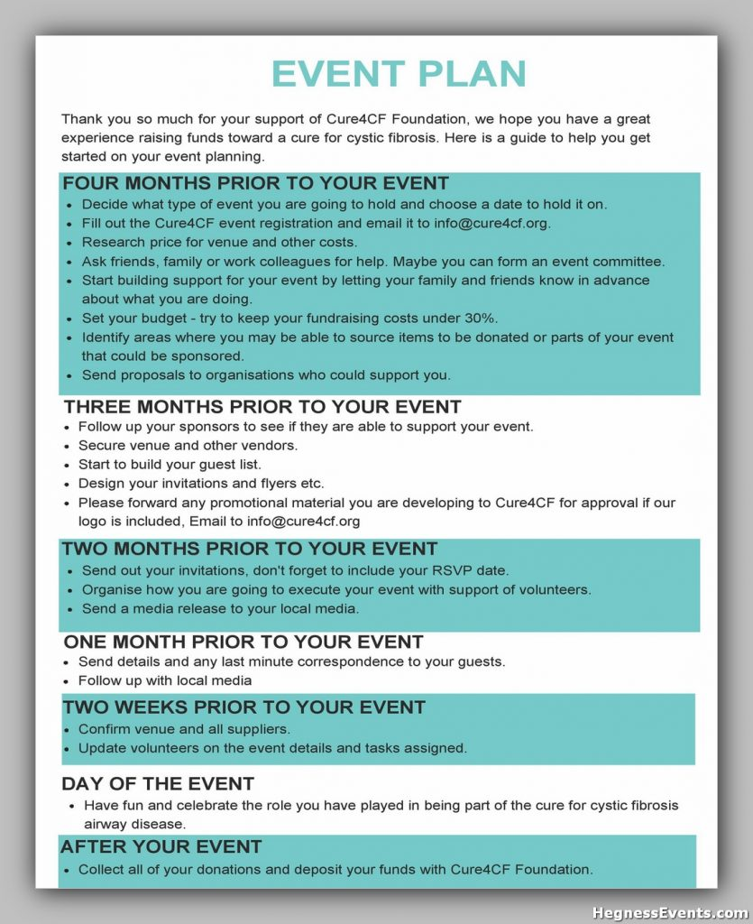 Event Planning Template Word 21