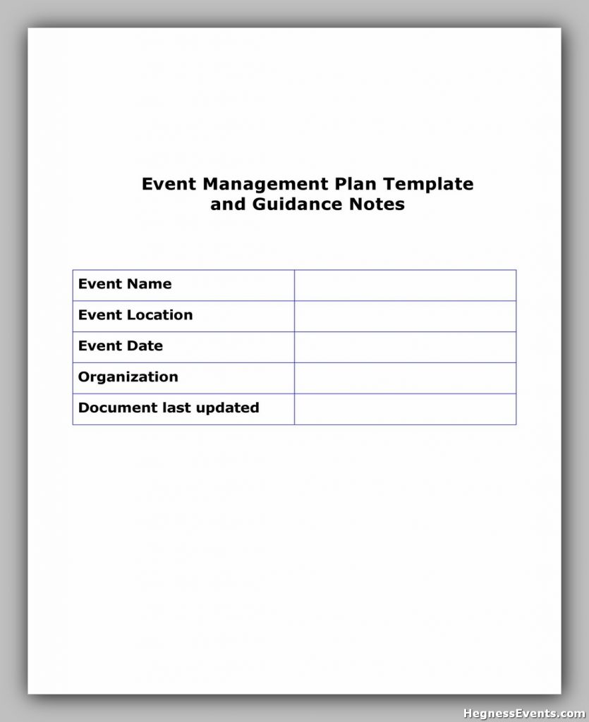 Event Planning Template Word 23