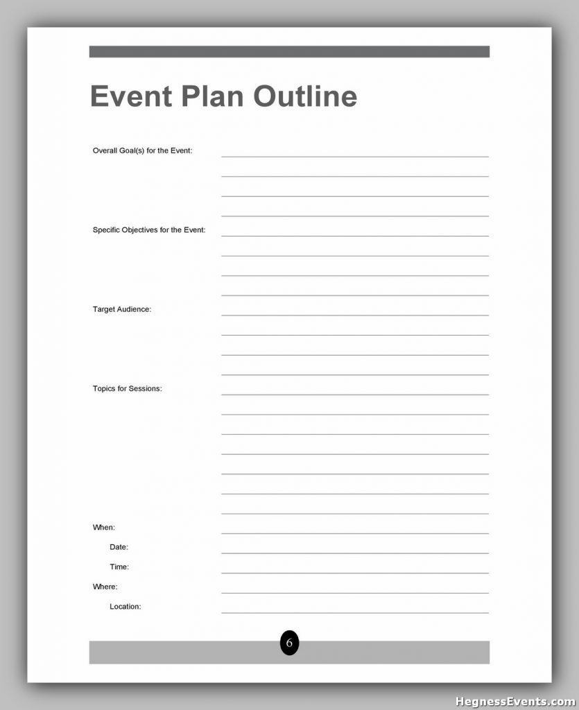 Event Planning Template Word 24