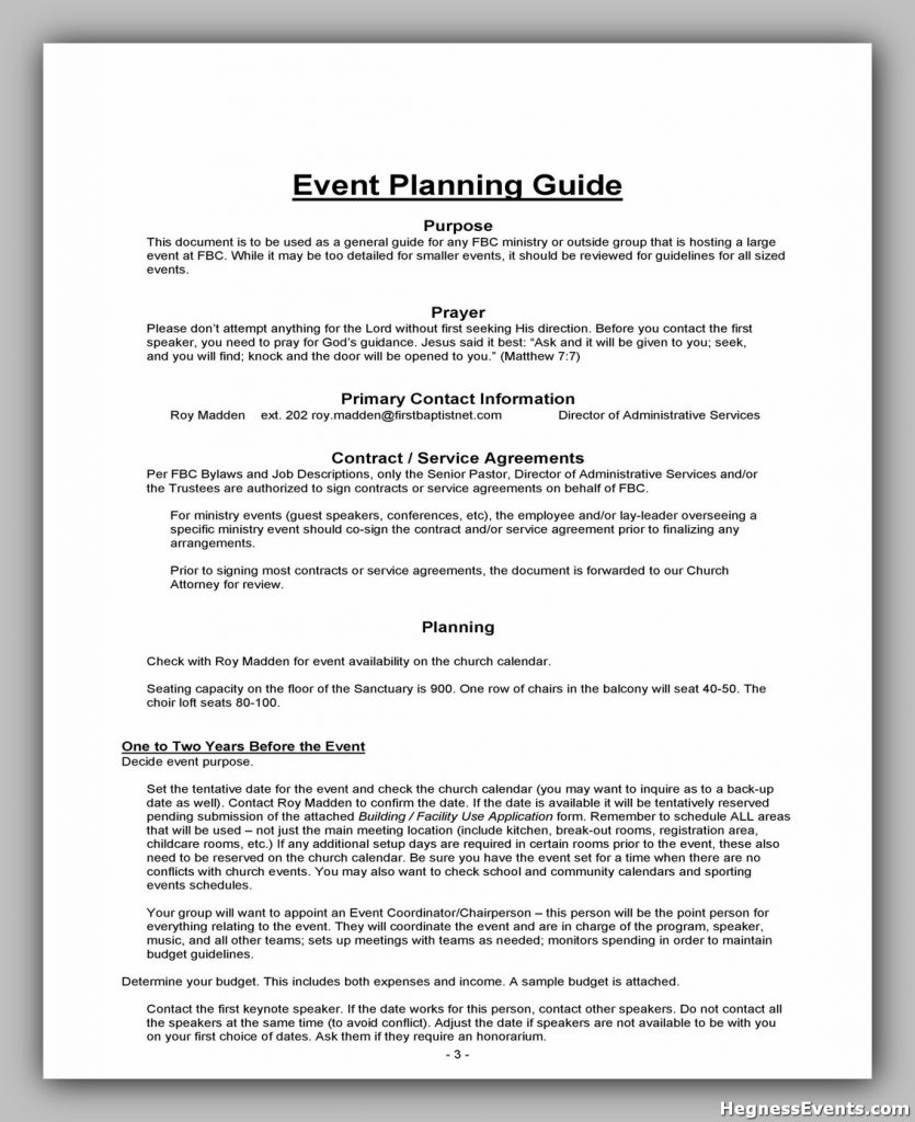Event Planning Template Word 29