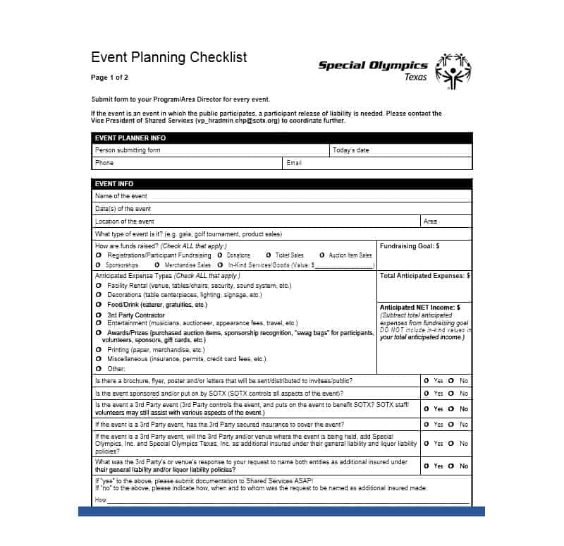 20 Professional Event Planning Checklist Templates