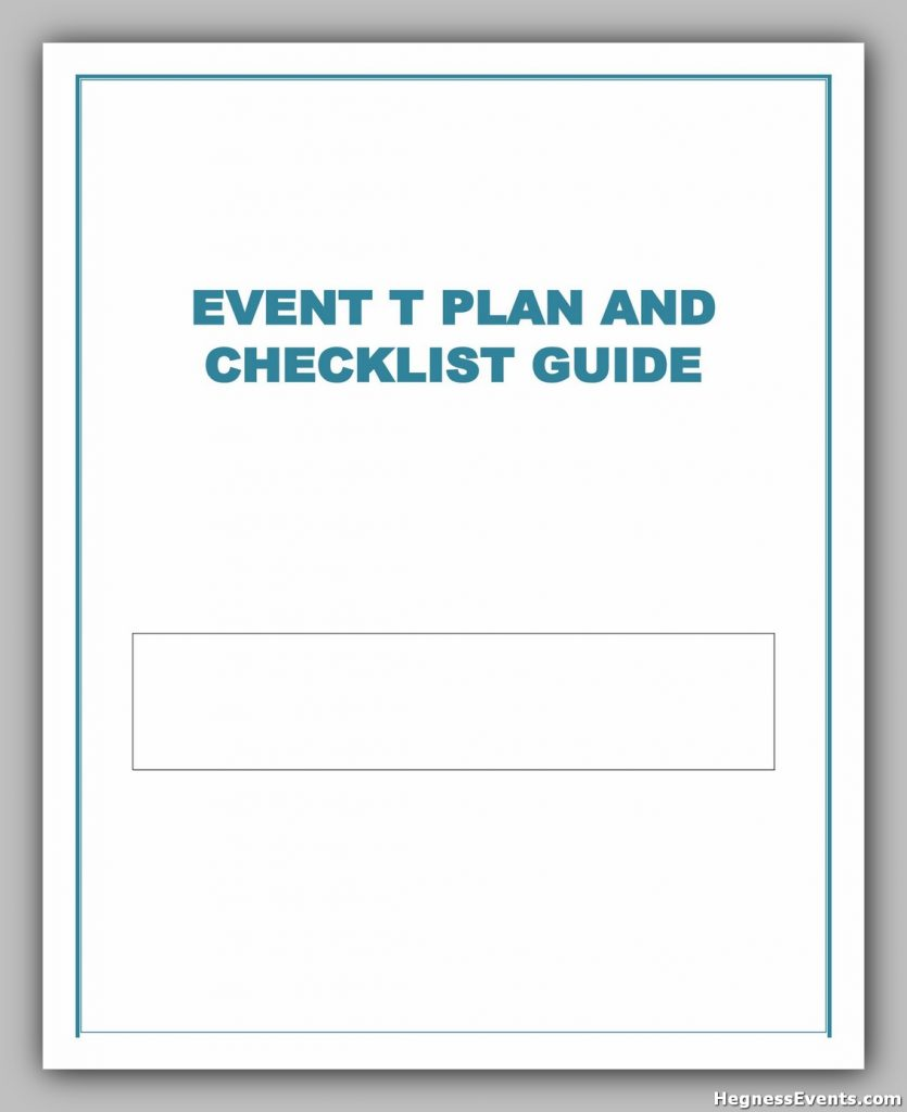Event Planning Checklist 09