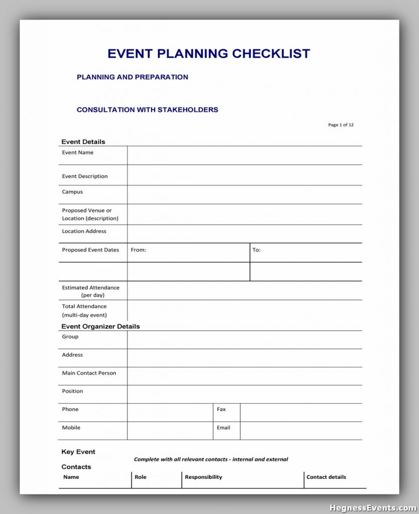 Event Planning Checklist Sample 39
