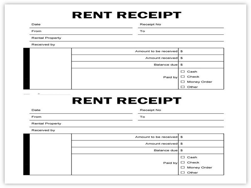 Rent Receipt Example 06