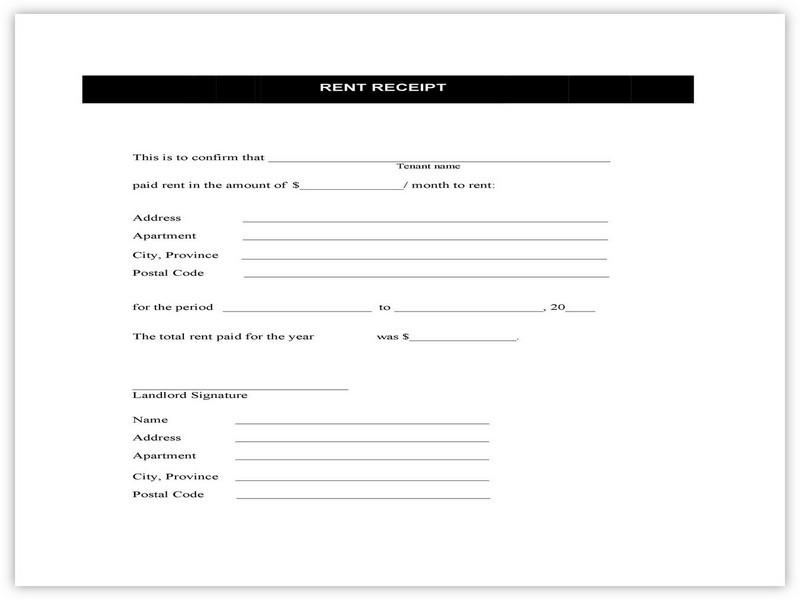 Rent Receipt Format 06