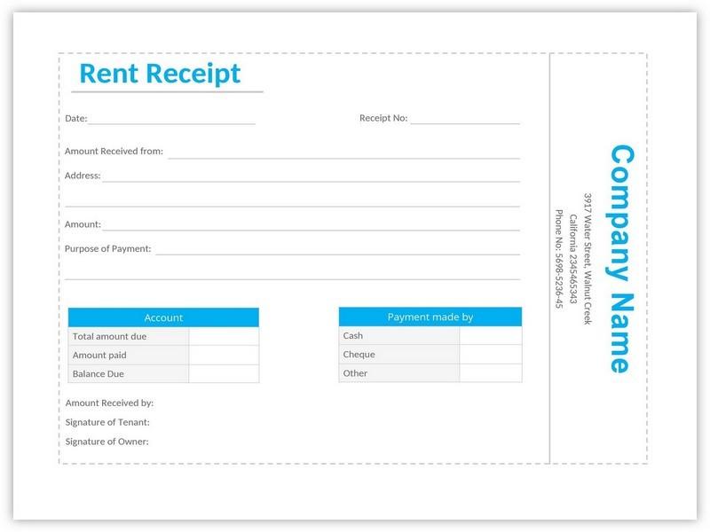 Rent Receipt Format 08