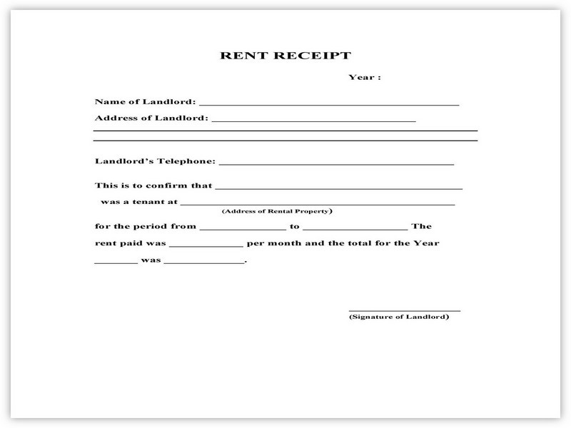 Rent Receipt Format 09