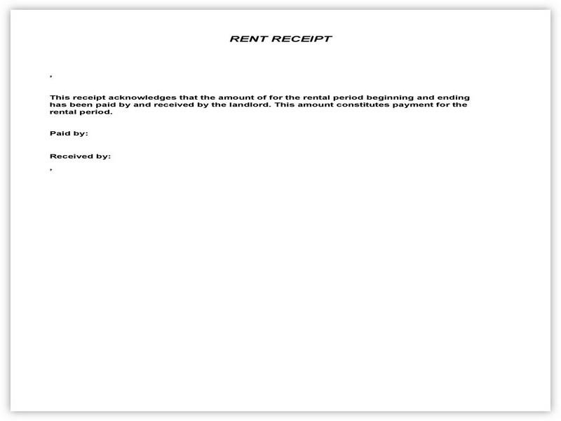 Rent Receipt Sample 03