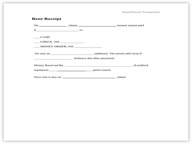 Rent Receipt Sample 09