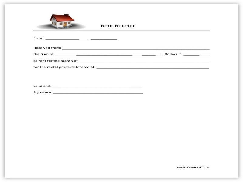 Rent Receipt Template 09