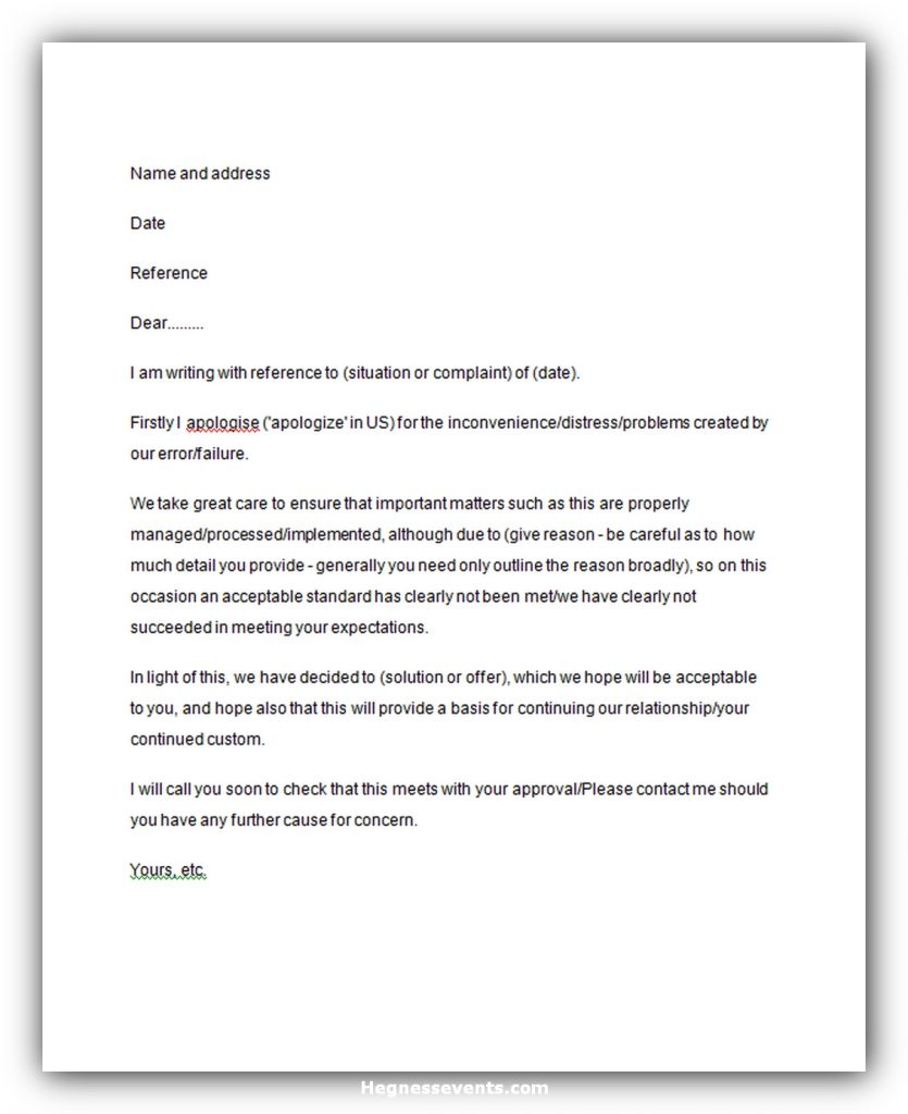 Response to complaint letter 04