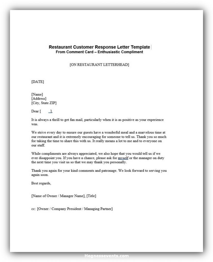 Response to complaint letter 07