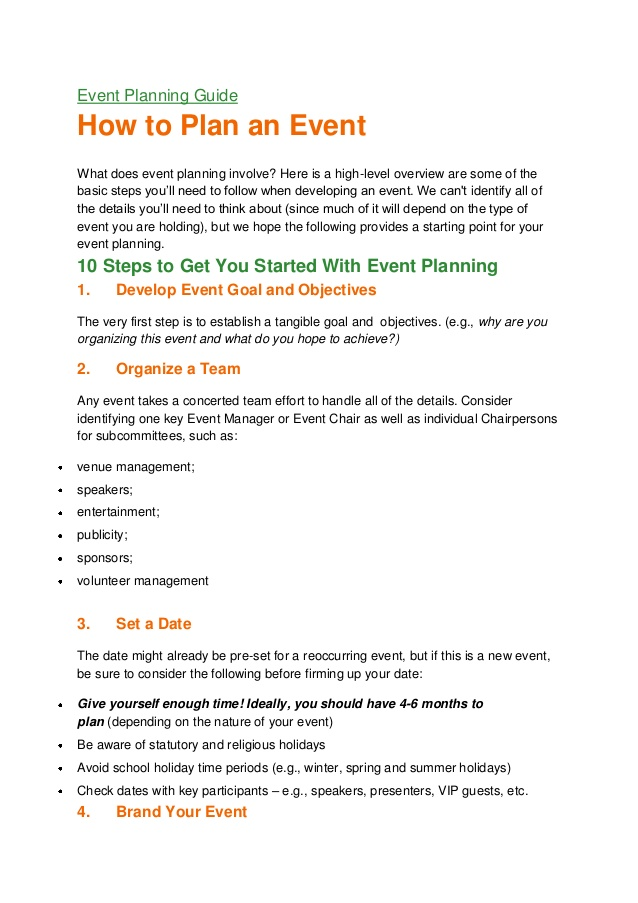 Event planning guide PDF