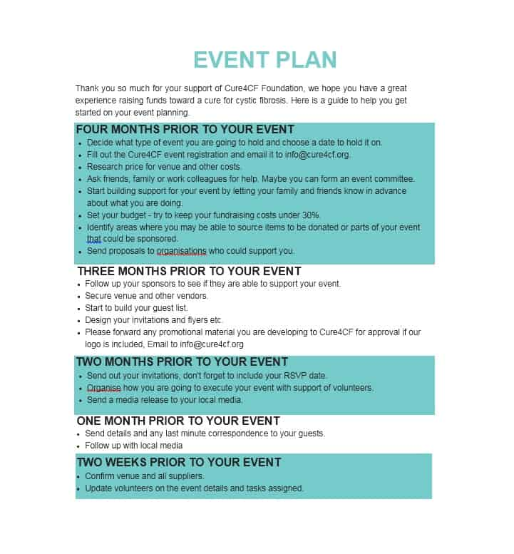 Professional Event Planning Checklist Templates