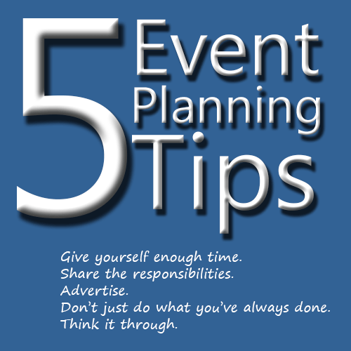 Five Event Planning Tips