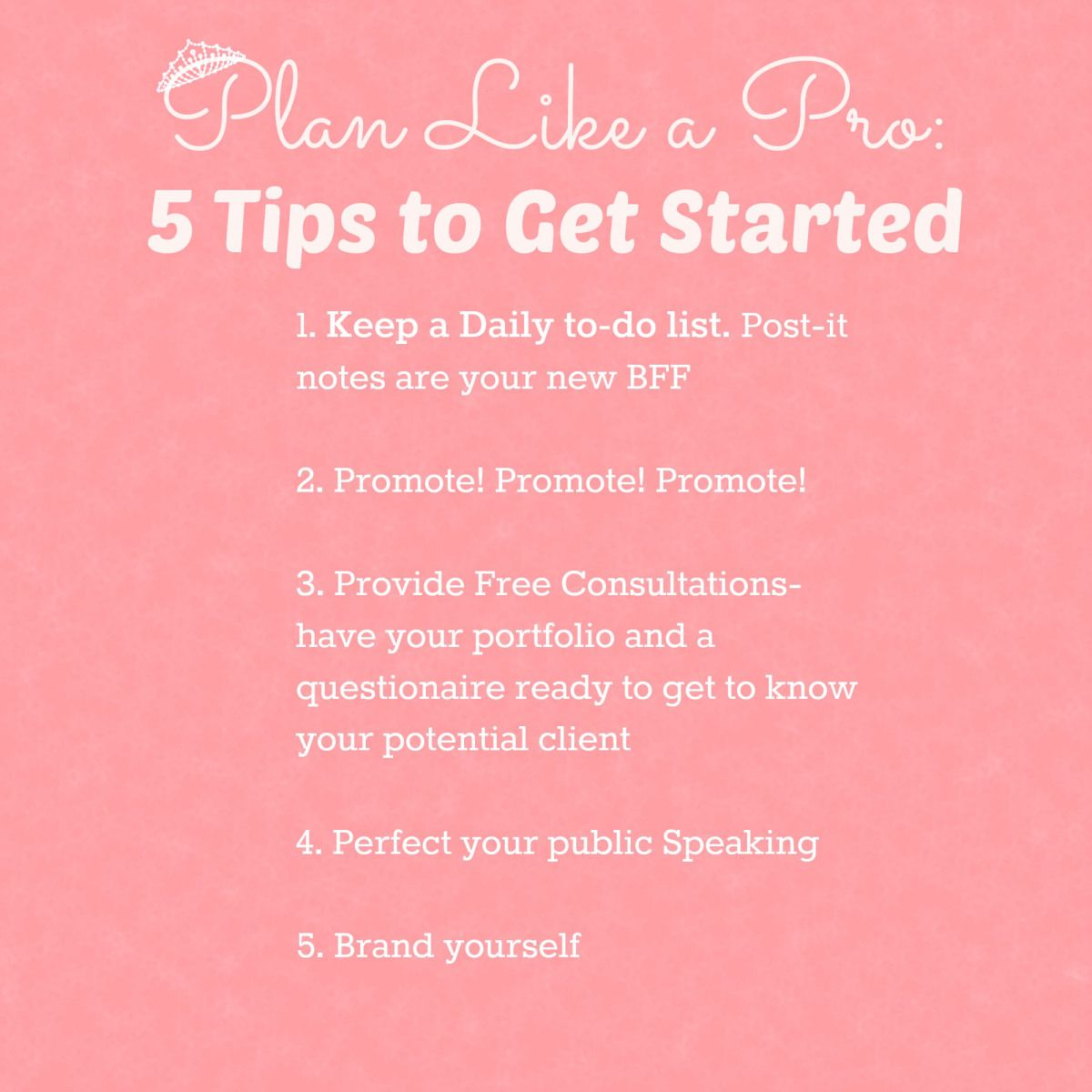 Tips to getting started in event planning