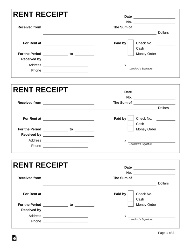 8 amazing templates and how to make rent receipt template