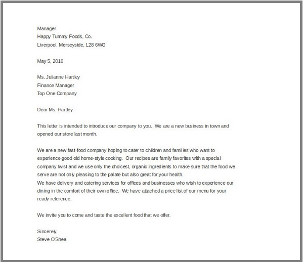 Business Letter For Complaint