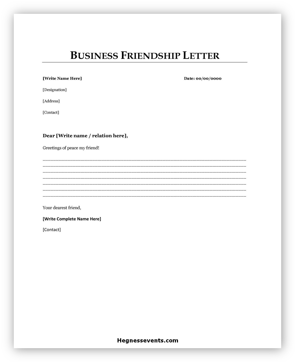 Business Letter Template 03